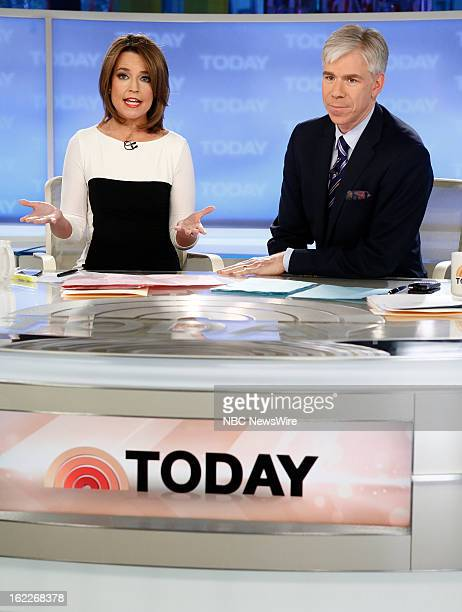 Savannah Guthrie and David Gregory appear on NBC News' 'Today' show