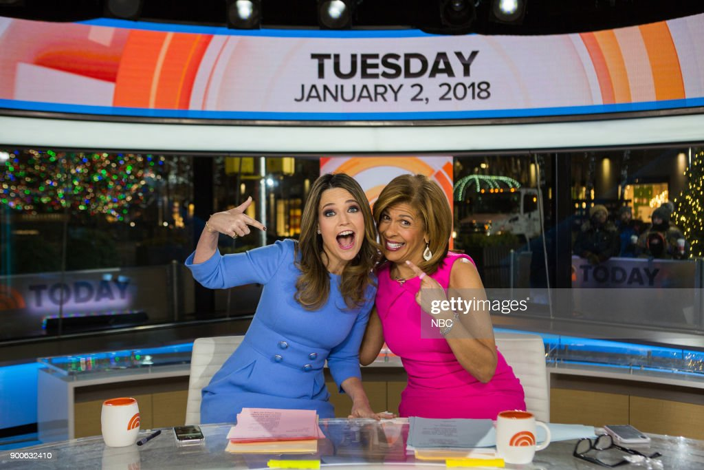 Savannah Guthrie and Hoda Kotb on Tuesday, January 2, 2018 --