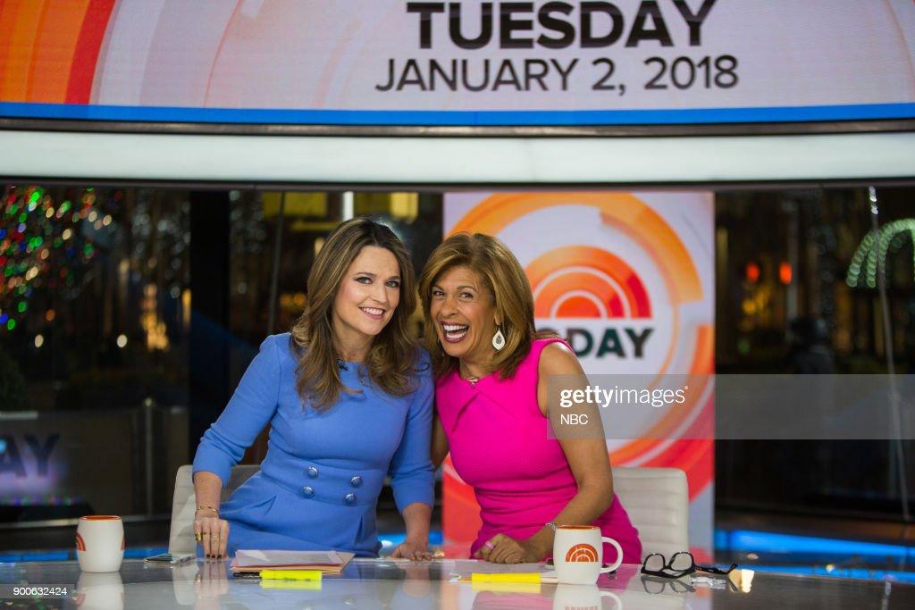 Savannah Guthrie and Hoda Kotb on Tuesday, January 2, 2018 --