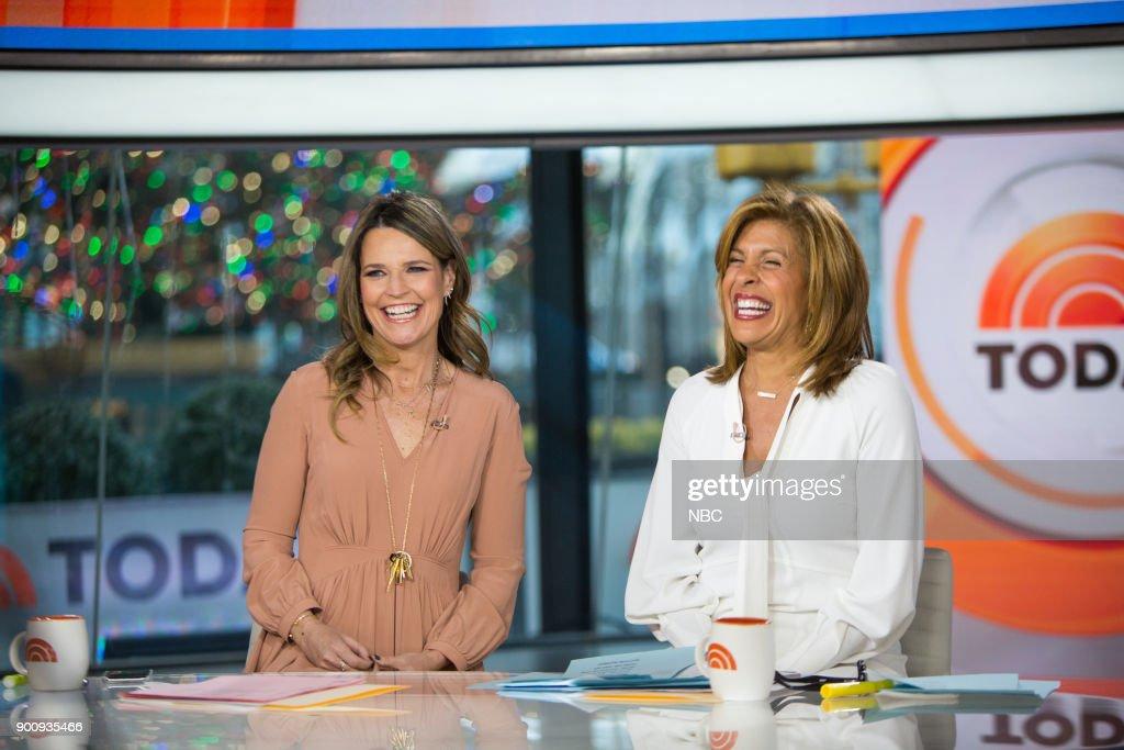 Savannah Guthrie and Hoda Kotb on Wednesday, January 3, 2018 --
