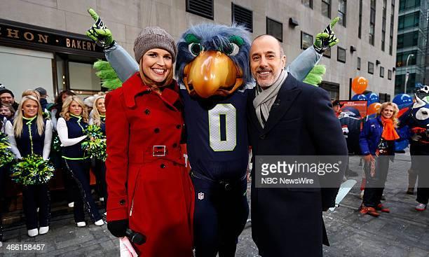Savannah Guthrie and Matt Lauer appear on NBC News' Today show