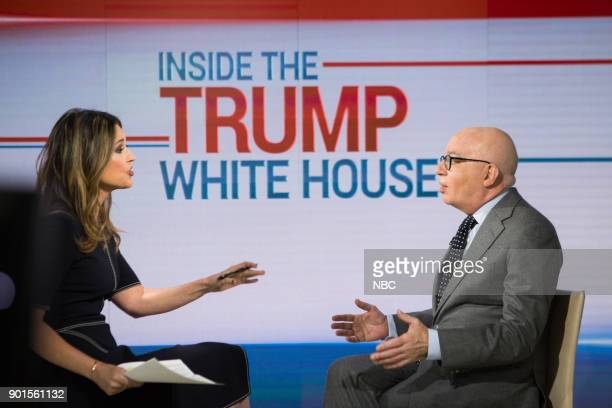 Savannah Guthrie and Michael Wolff on Friday January 5 2018
