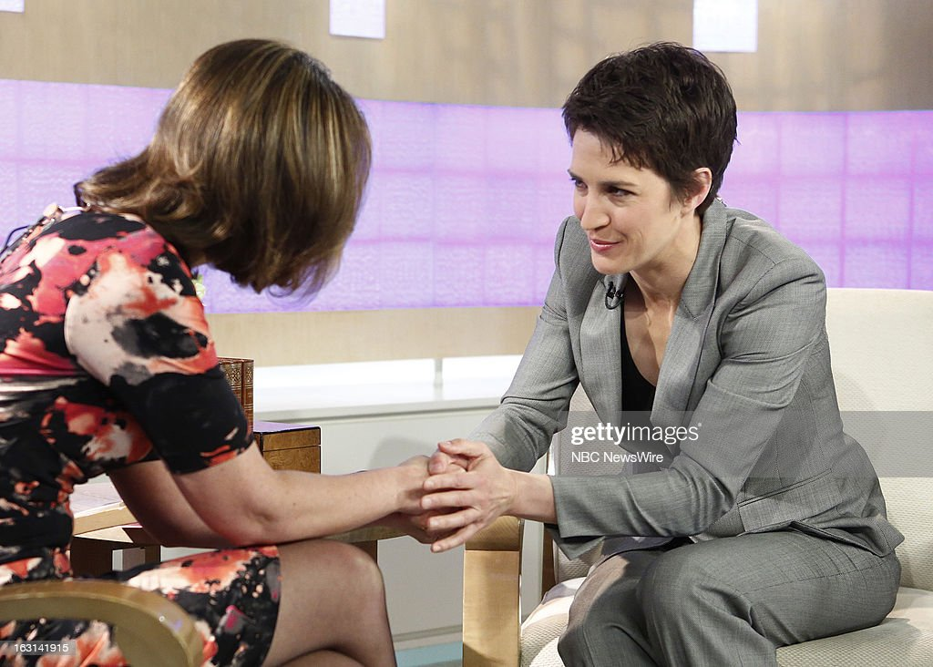 Savannah Guthrie and Rachel Maddow appear on NBC News' 'Today' show --