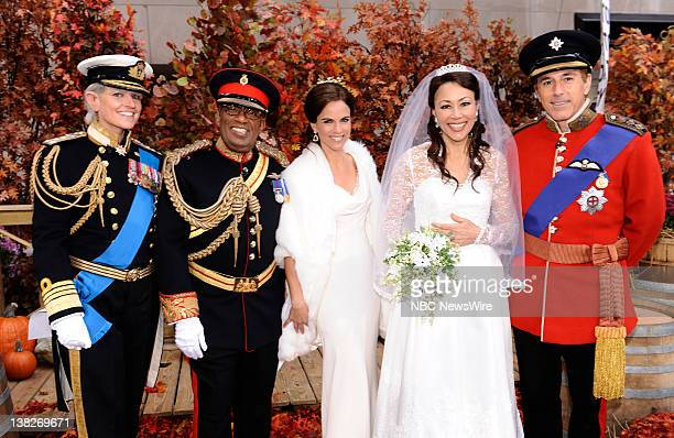 Savannah Guthrie as Prince Charles, Al Roker as Prince Harry, Natalie Morales as Pippa Middleton, Ann Curry as Kate Middleton and Matt Lauer as...