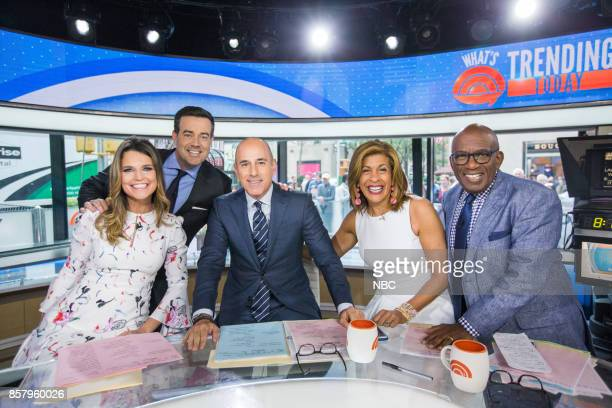 Savannah Guthrie Carson Daly Matt Lauer Hoda Kotb and Al Roker on Thursday September 5 2017