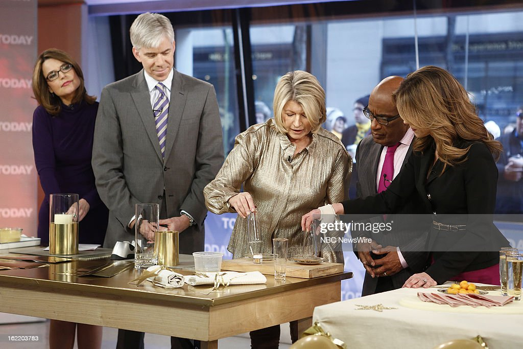 Savannah Guthrie, David Gregory, Martha Stewart, Al Roker and Natalie Morales appear on NBC News' 'Today' show --