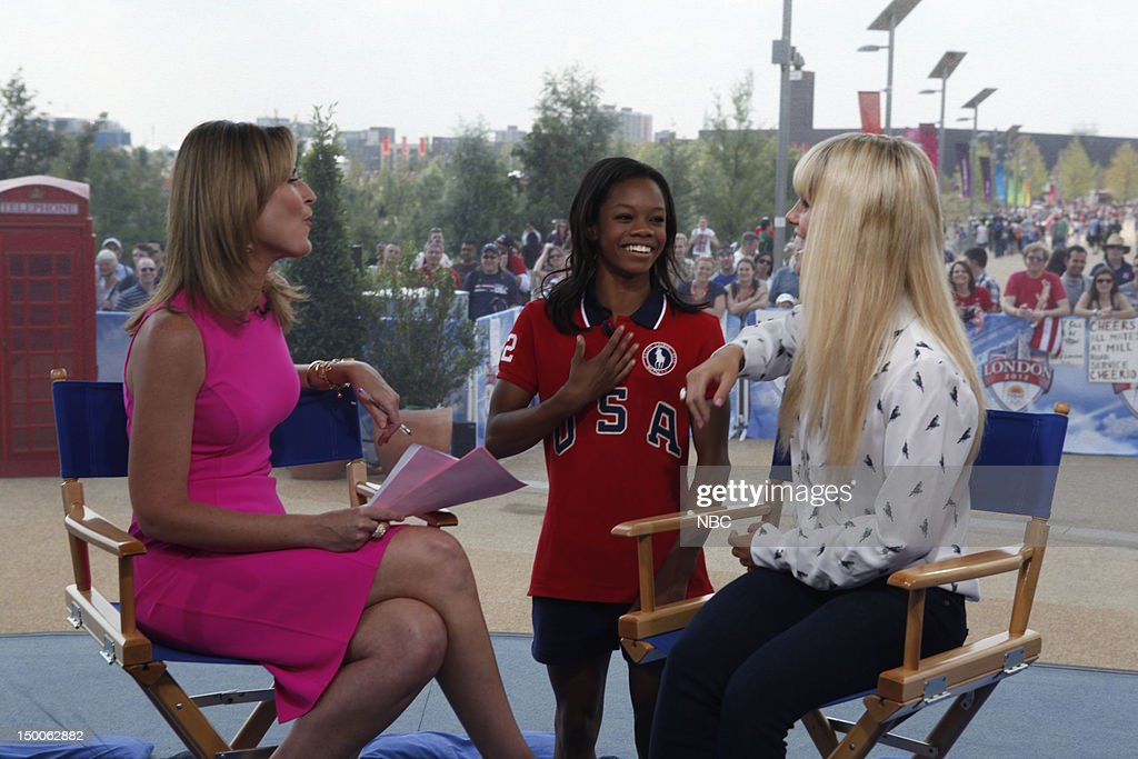 Savannah Guthrie, Gabby Douglas, Lauren Scruggs on August 9, 2012 --