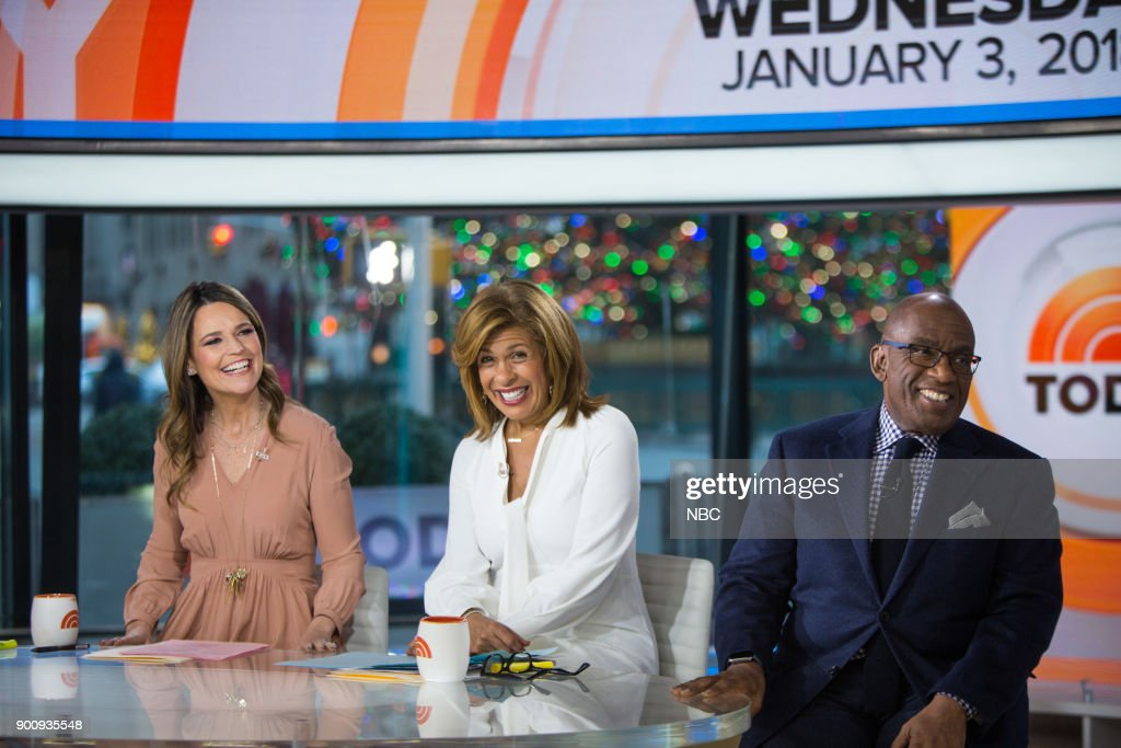 Savannah Guthrie, Hoda Kotb and Al Roker on Wednesday, January 3, 2018 --