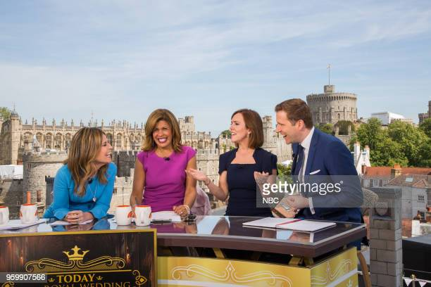 Savannah Guthrie Hoda Kotb royal editor Camilla Tominey and CNBC anchor Wilfred Frost for the wedding of Prince Harry and Meghan Markle at Windsor...