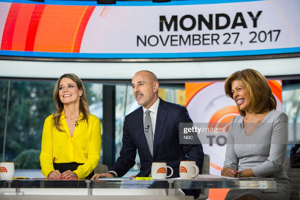 Savannah Guthrie, Matt Lauer and Hoda Kotb on Monday, November 27, 2017 --