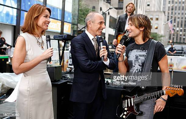Savannah Guthrie Matt Lauer and Keith Urban appear on NBC News' Today show
