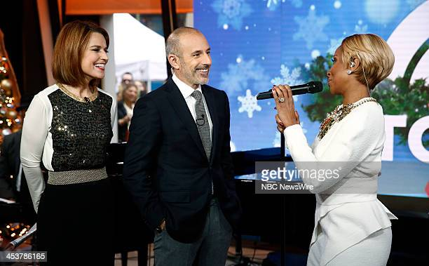 Savannah Guthrie Matt Lauer and Mary J Blige appear on NBC News' 'Today' show