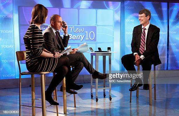 Savannah Guthrie Matt Lauer and Thorsten Heins appear on NBC News' 'Today' show