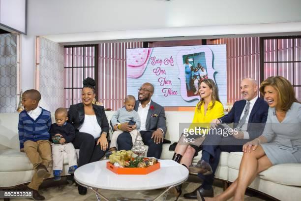Savannah Guthrie Matt Lauer Hoda Kotb with triplet parents on Monday November 27 2017