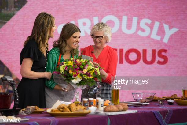 Savannah Guthrie Siri Daly and mother Gretchen 'Gigi' DeBoer on Thursday April 19 2018