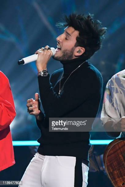 Pictured: Sebastian Yatra performs at the Mandalay Bay Resort and Casino in Las Vegas, NV on April 25, 2019 --