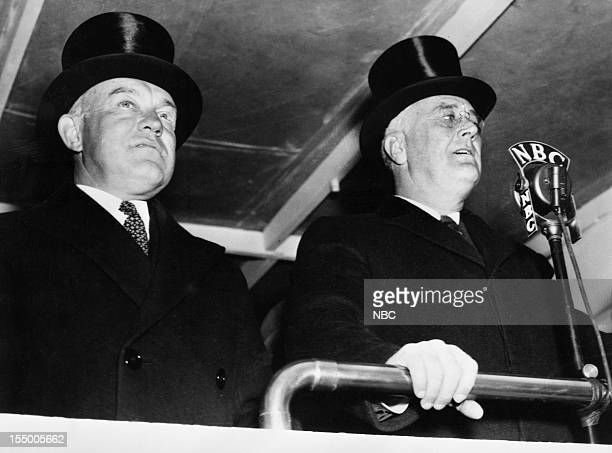 Secretary of War Harry Hines Woodring President Franklin D Roosevelt in 1938