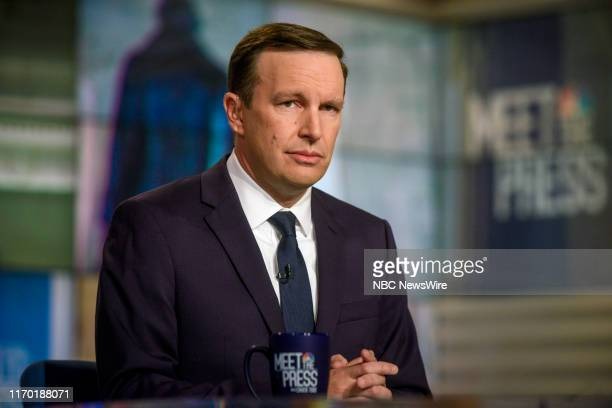 """Pictured: -- Sen. Chris Murphy appears on """"Meet the Press"""" in Washington, D.C., Sunday September 22, 2019."""