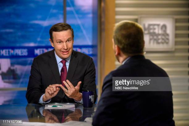 """Pictured: Sen. Chris Murphy appears on """"Meet the Press"""" in Washington, D.C., Sunday October 6, 2019."""