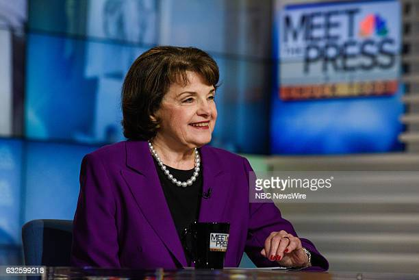 – Sen Dianne Feinstein appears on 'Meet the Press' in Washington DC Sunday January 15 2017