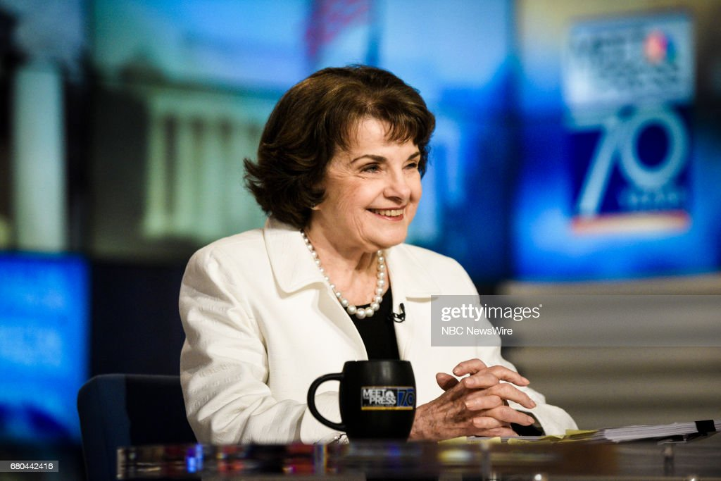 ? Sen. Dianne Feinstein (D-CA) appears on 'Meet the Press' in Washington, D.C., Sunday, May 7, 2017.