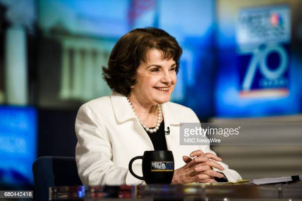Sen Dianne Feinstein appears on 'Meet the Press' in Washington DC Sunday May 7 2017