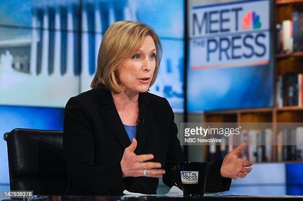 – Sen Kristen Gillibrand appears on Meet the Press in Washington DC Sunday April 15 2012
