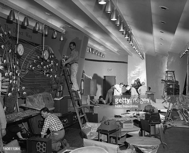 Set construction of the RCA Exhibition Hall in 1952 which was the first 'TODAY' studio Photo by NBC/NBC NewsWire