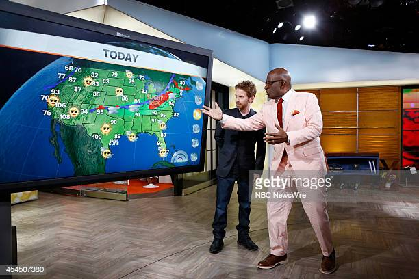 Seth Green and Al Roker appear on NBC News' 'Today' show