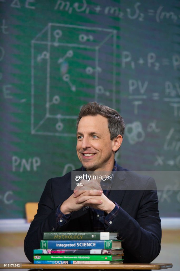 Seth Meyers on Wednesday, Jan. 31, 2018 --
