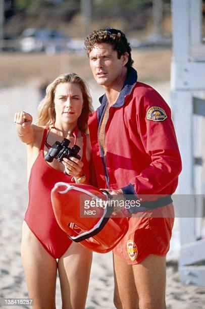 Shawn Weatherly as Jill Riley David Hasselhoff as Lt Mitch Buchannon