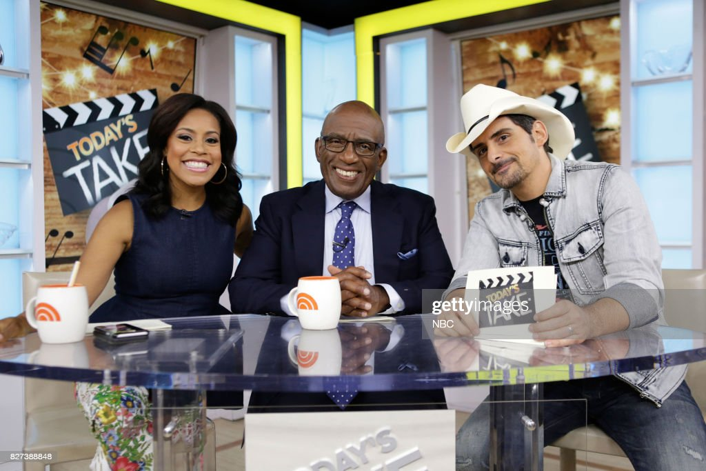 Sheinelle Jones, Al Roker, and Brad Paisley on Friday, Aug. 4, 2017 --