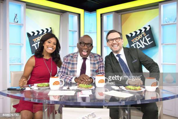 Sheinelle Jones Al Roker and Christian Slater on Wednesday Aug 23 2017