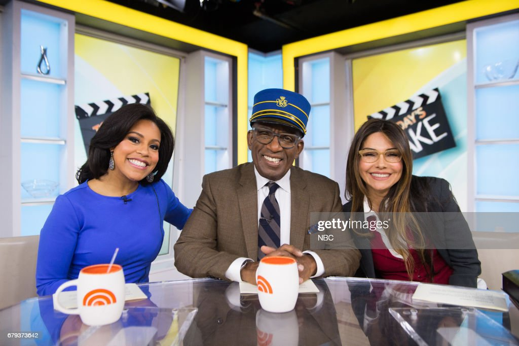 Sheinelle Jones. Al Roker and Vanessa Marcil on Friday, May 5, 2017 --