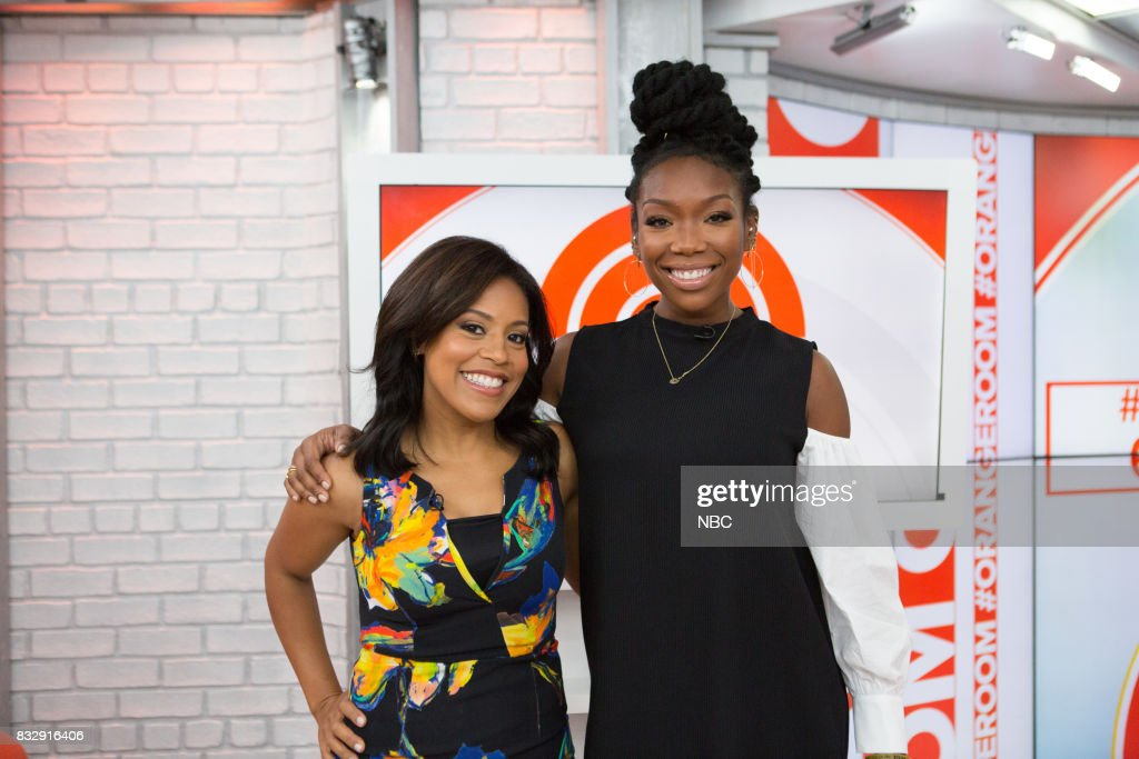 Sheinelle Jones and Brandy Norwood on Wednesday, August 16, 2017 --