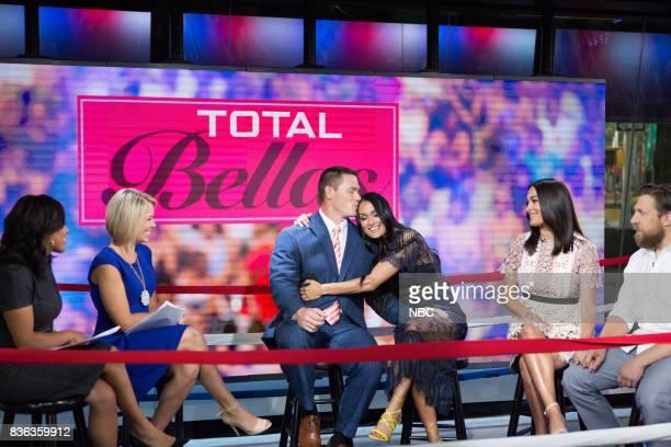 Sheinelle Jones Dylan Dreyer John Cena Nikki Bella Brie Bella and Daniel Bryan on Monday August 21 2017