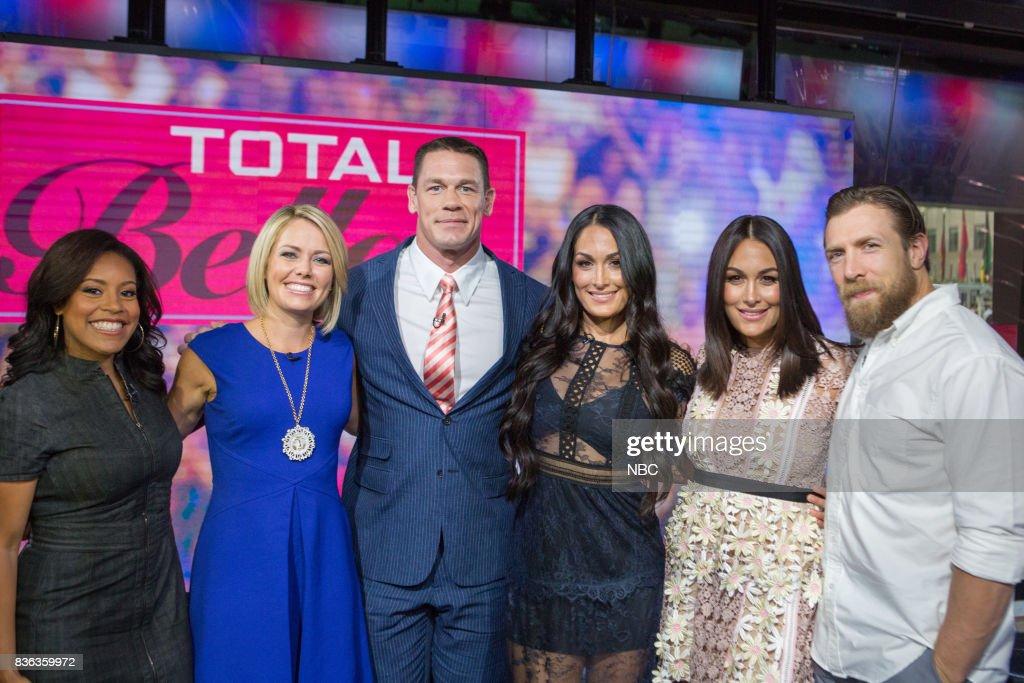 Sheinelle Jones, Dylan Dreyer, John Cena, Nikki Bella, Brie Bella and Daniel Bryan on Monday, August 21, 2017 --