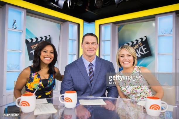 Sheinelle Jones John Cena and Dylan Dreyer on Friday June 9 2017