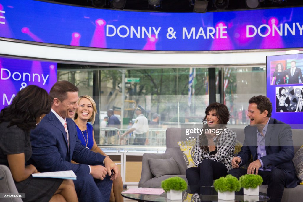 Sheinelle Jones, John Cena, Dylan Dreyer, Marie and Donny Osmond on Monday, August 21, 2017 --