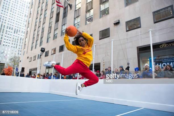Sheinelle Jones plays Dodgeball on Tuesday November 21 2017