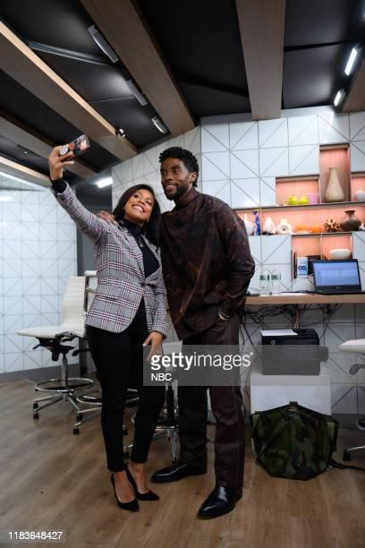Sheinelle Jonesn and Chadwick Boseman on Tuesday November 19 2019