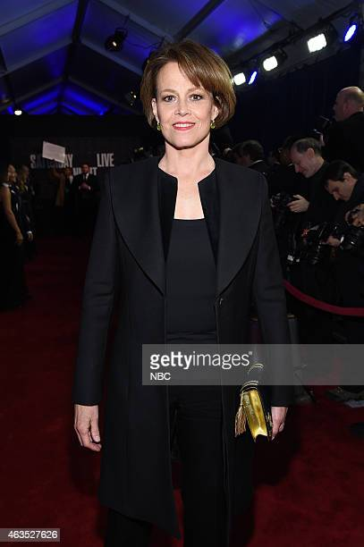 Sigourney Weaver walks the red carpet at the SNL 40th Anniversary Special at 30 Rockefeller Plaza in New York NY on February 15 2015