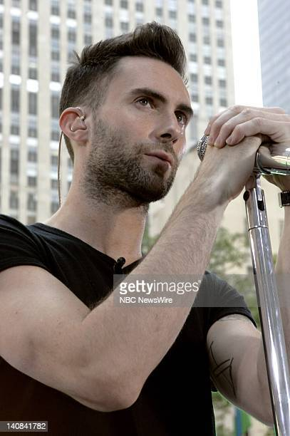 Singer Adam Levine of Maroon 5 performs live on the Plaza on NBC News' TODAY on August 17 2007 Photo by Virginia Sherwood/NBC NewsWire