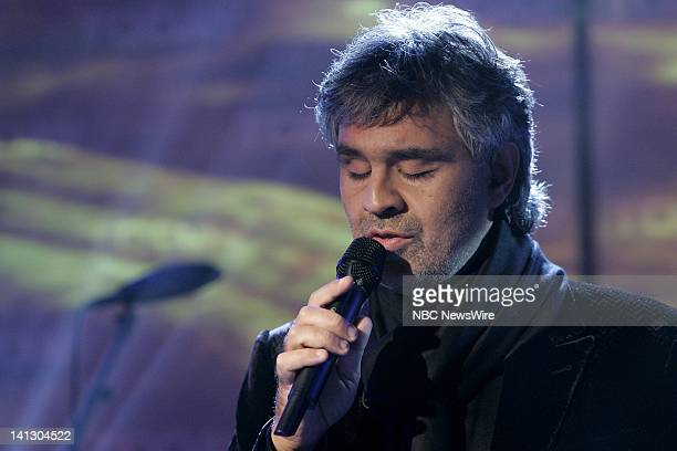 Singer Andrea Bocelli performs live in the studio on NBC News' Today on November 2 2007 Photo by Virginia Sherwood/NBC NewsWire