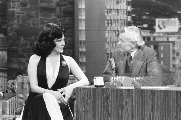 Singer Anna Moffo during an interview with Host Johnny Carson on April 27th 1976