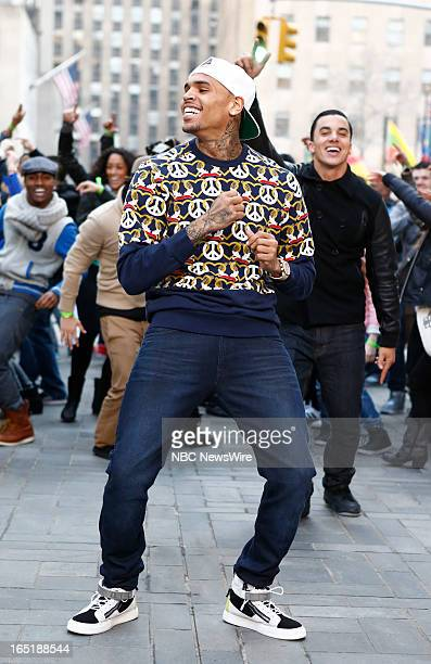 Singer Chris Brown appears on NBC News' Today show on April 1 2013