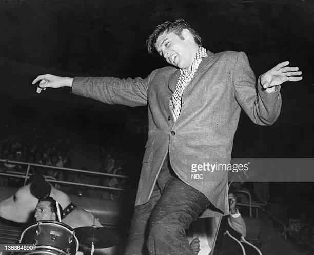 Singer Elvis Presley during a performance