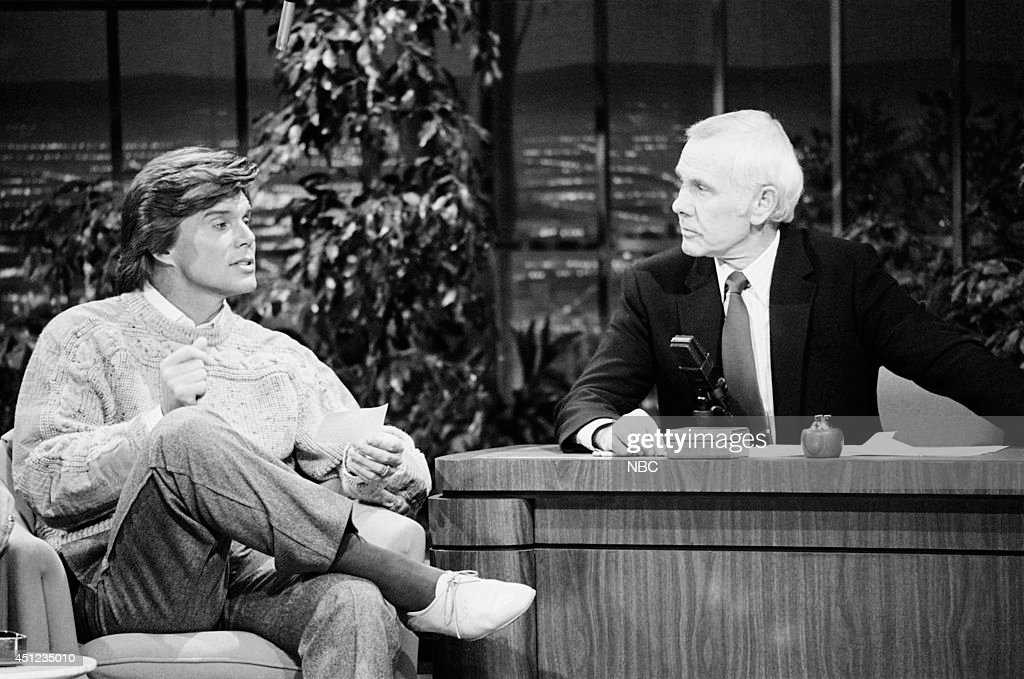 Singer John Davidson during an interview with host Johnny Carson on January 3, 1985 --