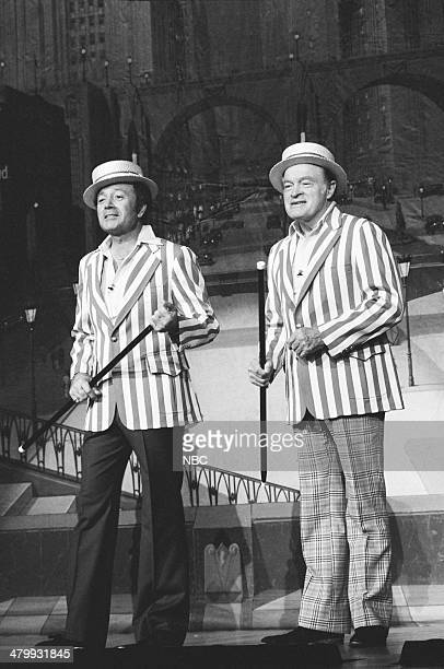 Singer Vic Damone host Bob Hope during a special celebrating the 50th Anniversary of the Ohio Theatre in Columbus Ohio on October 21 1978