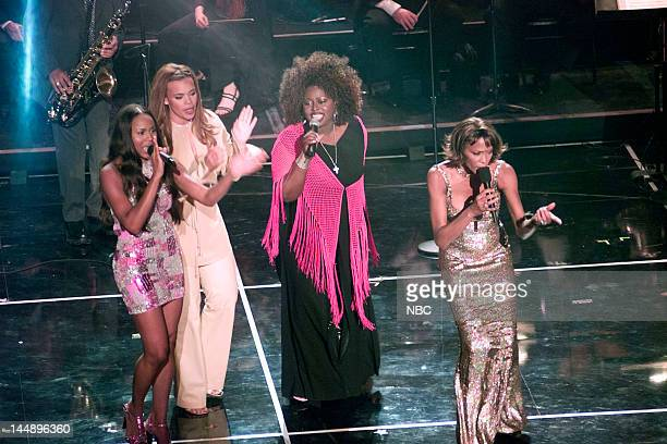 RECORDS' 25TH ANNIVERSARY CELEBRATION Pictured Singers Deborah Cox Faith Evans Angie Stone Whitney Houston during the Arista Records' 25th...